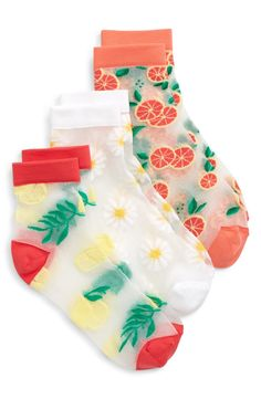 She can add a little zest to her look with these sheer socks featuring citrus fruit and floral embroidery. Style Name:Tucker + Tate Citrus Garden Sheer Socks (Walker, Little Kid & Big Kid). Style Number: Available in stores. Tween Girl Gifts, Tween Girls, Citrus Garden, Sheer Socks, Tucker Tate, Stuff And Thangs, Floral Embroidery, Big Kids, Christmas Stockings