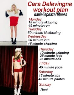 Cara Delevingne workout.