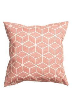 Housse de coussin en coton: Housse de coussin en twill de coton avec motif imprimé. Fermeture à glissière dissimulée à la base.