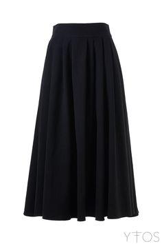 'Retablo' Black Midi Skirt