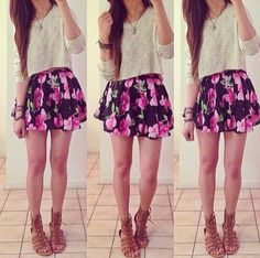 Sweater with flower skirt