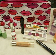 9 Piece Clinique Lot *****NEW**** Never Used. 9 Piece Clinique Lot including 2 Perfume and Make-up Bag Clinique Makeup