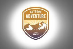 Outdoor Adventure Logo Template by Strongholdbrand on Creative Market