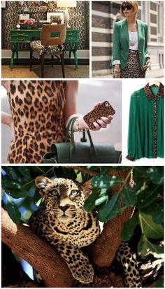 green + leopard print...