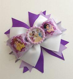 Disney Princess Hair Bow Girl Hair Bow Baby by AurorasBowtique