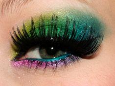 Green and pink eyeshadow #vibrant #bright #bold #eye #makeup #eyes