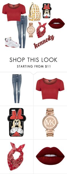 """""""Kennedy"""" by annie-hall-barton ❤ liked on Polyvore featuring rag & bone, Topshop, Retrò, Forever 21, Michael Kors and Lime Crime"""