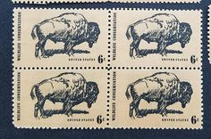 Pack of 20 Unused postage stamps . Old West, Wildlife Conservation, Great Plains USA Rare Stamps, Vintage Stamps, Vintage Labels, Postage Stamp Design, Small Picture Frames, Price Of Stamps, Commemorative Stamps, Postage Rates, Price Guide
