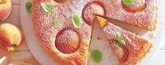 Peach & Basil Frangipane tart