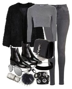 """Untitled #3046"" by angieswardrobe ❤ liked on Polyvore featuring moda, Topshop, LE3NO, Glamorous, 3.1 Phillip Lim, Yves Saint Laurent, H&M, Givenchy, women's clothing e women"