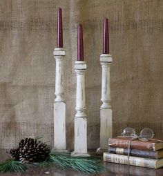 stair spindle candle sticks