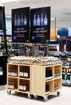 Navigating a wine shop off sales displays цветочный магазин, Shelving Design, Shelf Design, Display Design, Store Design, Bottle Display, Wine Display, Bottle Shop, Shop Window Displays, Store Displays
