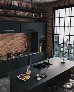 37 Top Kitchen Trends Design Ideas and Images for 2019 Part kitchen ideas; ki… 37 Top Kitchen Trends Design Ideas and Images for 2019 Part kitchen ideas; Industrial Chic Decor, Industrial Kitchen Design, Industrial Living, Industrial Interiors, Interior Design Kitchen, Industrial Loft, Vintage Industrial, Industrial Style Bedroom, Industrial Apartment