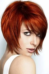 short copper red hair styles - Google Search