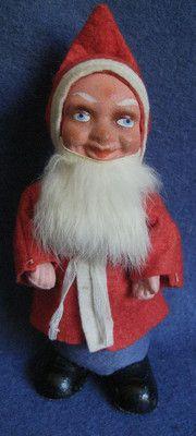 "WWII era 9"" Tall US Zone German Santa. Photo via Ebay"