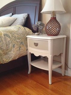 Yard Sale Nightstands Makeover  I love this!  Would never think that the originals could be so transformed!