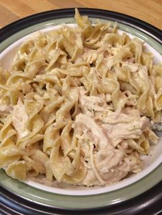 "Creamy Crockpot Chicken with Pasta Creamy Crockpot Chicken with Pasta ""This is a very easy and flavorful pasta dish. I love cooking in the crockpot, and coming home to the smell of dinner when I've been gone all day! Crock Pot Slow Cooker, Crock Pot Cooking, Slow Cooker Recipes, Crockpot Recipes, Cooking Recipes, Easy Recipes, Group Recipes, Cooking Corn, Amish Recipes"