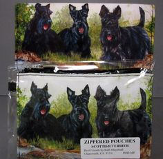New Scottish Terrier Dog Zippered Pouch & Check Book Wallet Terriers Dogs