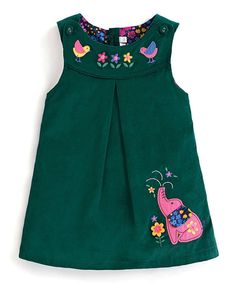 Take a look at this Teal Elephant Appliqué Shift Dress - Infant, Toddler & Girls today!