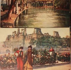 Paris Vintage Postcard France French by RedLittleVintage on Etsy, $35.00