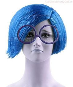 Halloween Party Online Sadness Inside Blue Wig Out Costume Cosplay HalloweenPartyOnline Halloween Wigs, Halloween 2015, Halloween Party, New Movies, Good Movies, Sadness Inside Out, Group Cosplay, Blue Wig, Wig Party