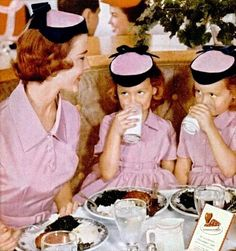 Mother and Daughters dress alikes .c1950s