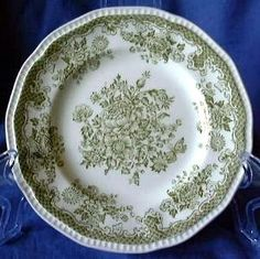 Decorative Dishes - Sage Green Toile Butterfly Mum Bird Poppy Vintage Plate L, $29.99 (http://www.decorativedishes.net/sage-green-toile-butterfly-mum-bird-poppy-vintage-plate-l/)