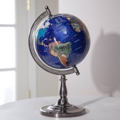 Have to have it. Belham Living Hamilton Lapis 9-inch Diam. Tabletop Globe with Single Stand - $89.98 @hayneedle
