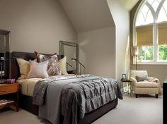 Luxury Grey Bedding Furniture Sets Decoration in Modern Master Bedroom Interior Decorating Design Ideas