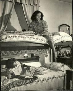 Howard University students photographed in their dorm by LIFE magazine in November 18, 1946 issue, page 111.