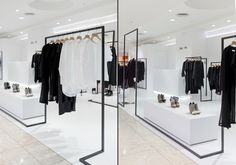 Ontology studio designed the latest store of the young Taiwanese designer's brand, Dleet, in Taoyuan, Taiwan. The straight black lines on the all-white background seem very simple, but never bored. Only by moving a step forward, you get a different view – the scene changes from every angle. The interior designer plays with the infinite shapes of 2D pattern in the 3D world, making surprises in each detail