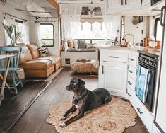 RV Renovated into a Beautiful Full-Time Home in California Tiny House Mov. RV Renovated into a Beautiful Full-Time Home in California Tiny House Movement // Tiny Living // Tiny House Living Room // Tiny Home Kitchen // Surf Shack, Tiny House Movement, Tiny House Living, Rv Living, Living With Dogs, Gypsy Living, Kitchen Living, Coastal Living, Living Rooms