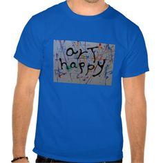 """art happy"" men tee shirts"