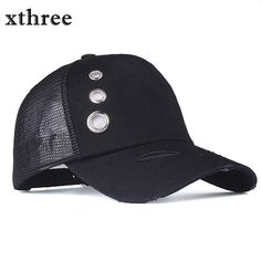 59408678649 Xthree Retro Damage design summer baseball cap mush fitted cap girl  snapback hat for men women casual gorras 5 panels