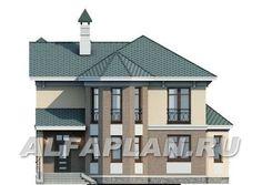 """🏠 """"Классика""""- двухэтажный особняк с эркером: цены, планировка, фото. Купить готовый проект Gazebo, Catalog, Outdoor Structures, Mansions, House Styles, Home Decor, Kiosk, Decoration Home, Manor Houses"""
