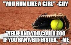 Softball quotes funny memes softball quotes sport quotes funny memes funny quotes jokes home improvement cast Funny Comebacks, Funny Relatable Memes, Funny Texts, Funny Jokes, Hilarious, Funny Pics, Funny Softball Quotes, Softball Stuff, Softball Things