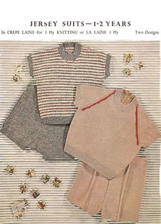 Knitted Baby Boys Sweater/pants/shorts Knitting by georgie8109, $2.25