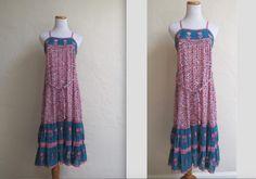 Vintage 70s Supercraft Boho Gauzy India Hippie Festival Dress XS S by LolaAndBlack on Etsy