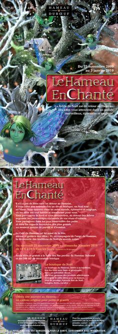 """Hameau Dubœuf, Affiche """"Hameau Enchanté"""", illustration R.Michon, Noël 2009©markcom"""