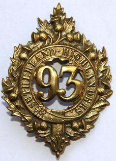 93rd HIGHLANDERS CAP BADGE 1874 1881.