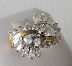 Brilliant Simulated Diamond Ring.  Size 7 by veryfrenchbydesign, $125.00