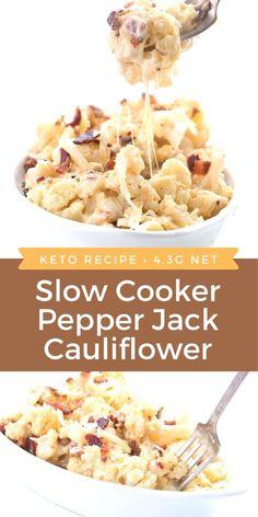 Keto Foods, Ketogenic Recipes, Low Carb Recipes, Paprika Sauce, Low Carb Slow Cooker, Slow Cooker Recipes, Cena Keto, Slow Cooker Stuffed Peppers, Keto Cauliflower