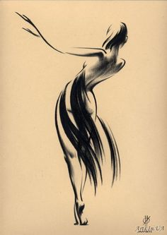 Art by Oleg Eldeukov Pencil Art Drawings, Drawing Sketches, Life Drawing, Figure Drawing, Dancer Tattoo, Mode Poster, Dancing Drawings, Art Japonais, Sketch Inspiration