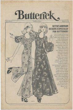1970s Betsey Johnson Butterick 6979