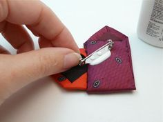 necktie crafts | Glue on a pin back or glue to a card-or anything else you can think of ...