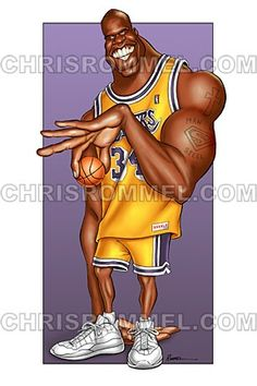 Shaquille O& by Exaggerated Entertainment Caricatures by Chris Rommel Caricature From Photo, Caricature Artist, Caricature Drawing, Funny Caricatures, Celebrity Caricatures, Funny Art, The Funny, Black Celebrities, Celebs