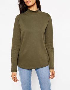 Image 3 of ASOS Sweatshirt With High Neck