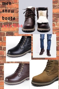 a3f528c89bd Size 38~50 Natural Wool Winter Boots Russian Style Full Grain Leather Sheep  Fur Handmade Men Winter Snow Boots  YM8988