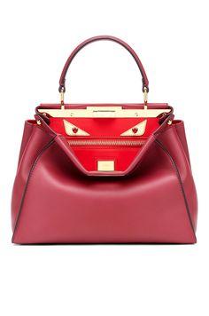 Fendi Loves Valentine Bugs Ruby Women s Satchel Bag Smooth Leather, Satchel  Bag, Love Valentines 4d38276d31