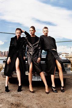Warm Leatherette | Deimante, Anne Sofie, Solomiya | Alexander Neumann #photography | Tank Magazine Fall 2012